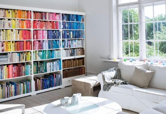 Bücherreihe regal  Bücher und Farben | Au fil des mots