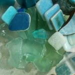 drei Farben Blau